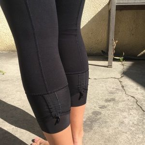 Lululemon crops with mesh detail